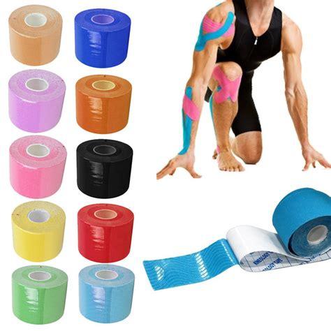 Sport Elastic Kinesio Bandage Injury Support 5m 5cm Kinesio Taping Bandage Rollathletic Kinesiology Sport Elastic Adhesive Knee