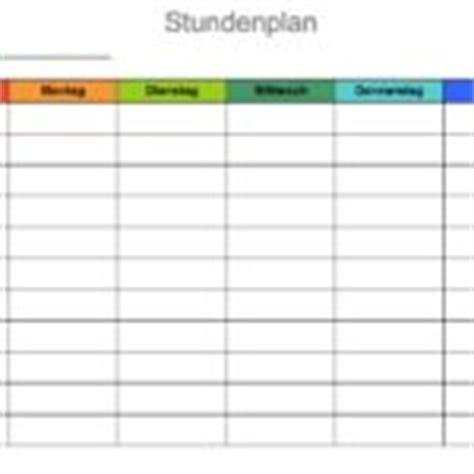 Word Vorlage Stundenplan Stundenplan Vorlage Muster Und Vorlagen Kostenlos