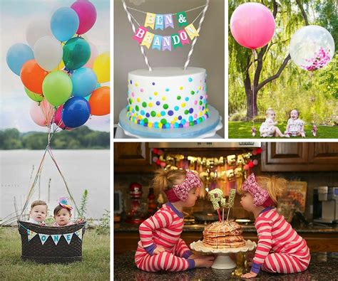 birthday themes for twin boy and girl twins party ideas birthday in a box