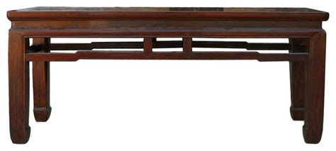 asian storage bench chinese oriental apron double seat bench asian accent