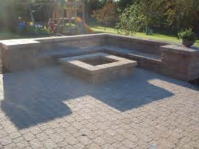 Brick Patio With Fire Pit by Fire Pit And Paver Patio