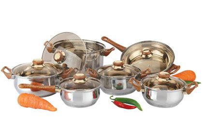 Promo Shinil 12 Pcs Cookware Set 12pc stainless steel cookware set 30 39 free shipping simple coupon deals