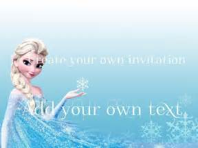 gallery gt frozen invitations templates