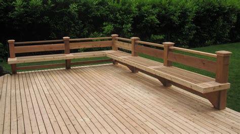cedar deck bench straight cedar deck and bench in bellevue deck