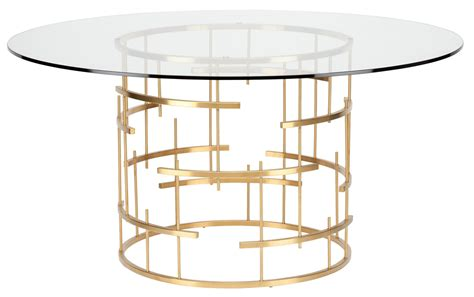 Round Tiffany Clear Glass Dining Table Hgsx216 Nuevo Clear Glass Dining Table