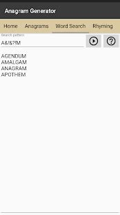 scrabble anagram builder rhyming softology s