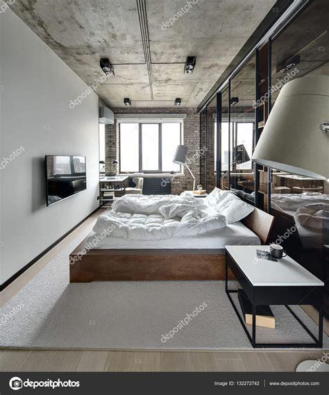 bedroom loft style loft style bedroom stock photo 169 bezikus 132272742
