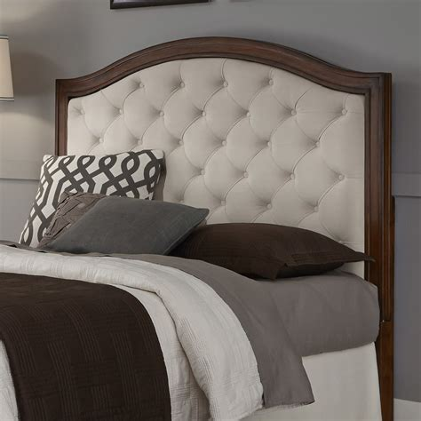 upholstered headboard mahogany cherry wood camelback