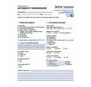 Car Repair Diagnostic Forms