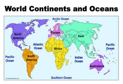 map of continents and oceans oceans and continents gallery