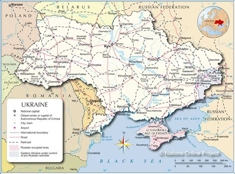 map ukraine europe political map of ukraine nations project