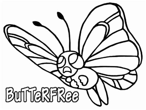 pokemon coloring pages caterpie pokemon coloring page 012 butterfree coloring pages