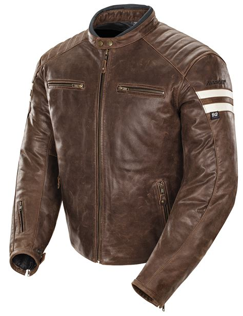 mens leather riding jacket joe rocket men s classic 92 brown cream leather street