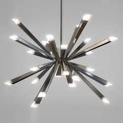 modern lighting chandeliers starburst led chandelier by blackjack lighting modern