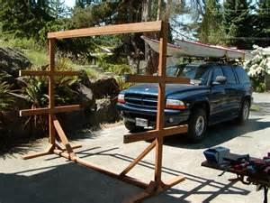 how to building wooden canoe rack plan pdf