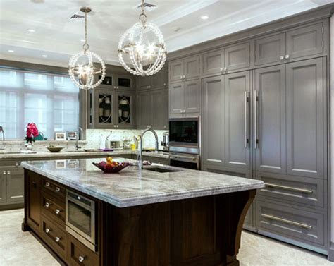 gray and brown kitchen the psychology of why gray kitchen cabinets are so popular