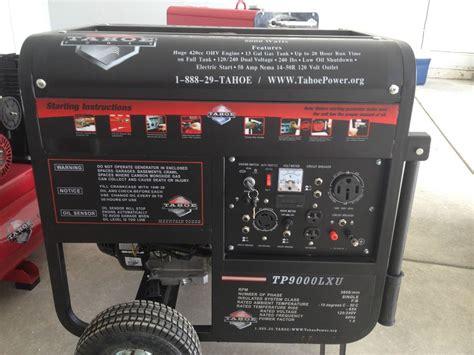 8000watt Electric Start Honda Generator by Honda 8000 Watt Generator Tahoe 8000 Watt Gas Generator