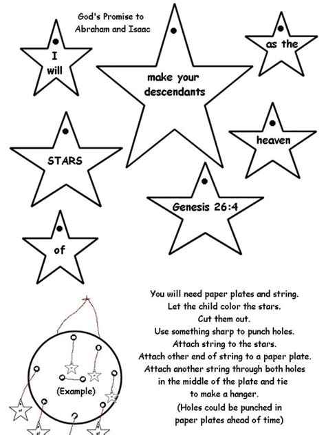 by cathy abraham activity idea place star mobile for isaac or abraham children s bible