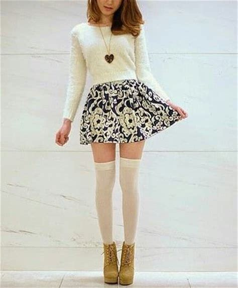 outfits with knee high socks skirt pattern skirt skirts and sock on pinterest