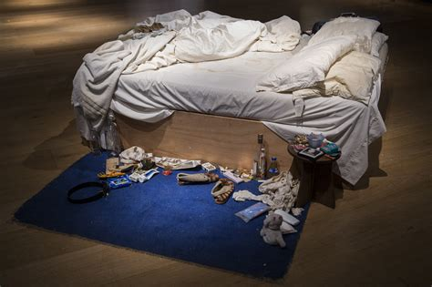 on my bed artist tracey emin s messy bed sells for 4 4 million