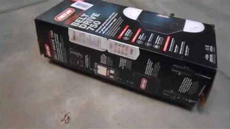 genie stealth 750 garage door opener