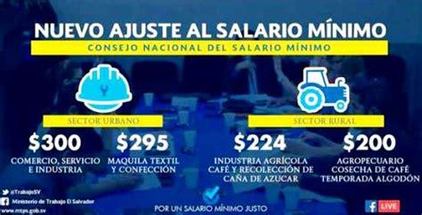 nuevo salario mnimo recibe el ao 2016 con tensin social salario m 237 nimo en el salvador 2018 el salvador mi pa 237 s