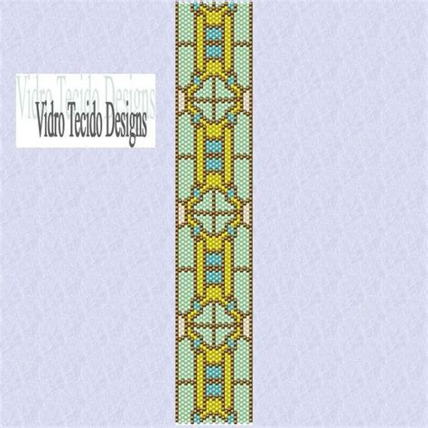 Stained Glass 3 Window Peyote Pattern   Beads   Pinterest   Peyote patterns, Patterns and Beads