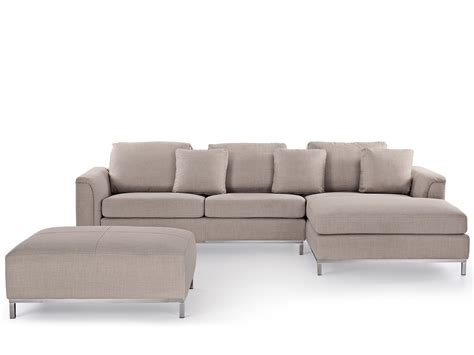 l shaped with ottoman beige upholstery suite with ottoman corner sectional