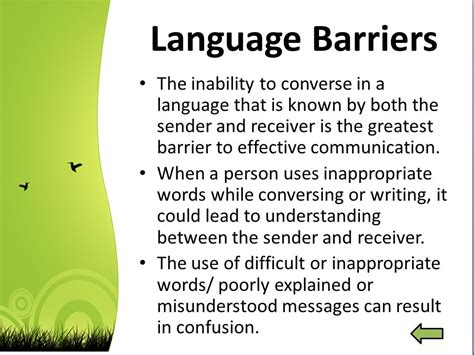 language vi barriers to communication ppt