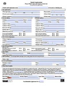 Free Residential Lease Agreement Templates free hawaii rental application pdf word doc