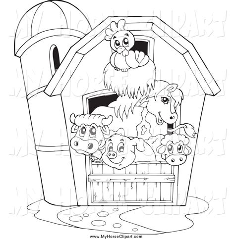 91 barn coloring pages with animals clip art of a barn black and white drawing