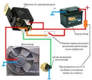 эл схема включения вентилятора