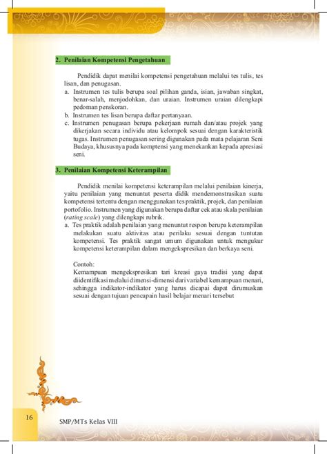 Buku Seni Dalam Dimensi buku guru seni budaya kelas viii smp kurikulum 2013
