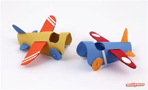 paper airplane craft mollymoocrafts toilet roll crafts paper aeroplanes