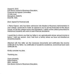 Appeal Letter For Financial Aid sle financial aid appeal letter 7 free documents in word pdf