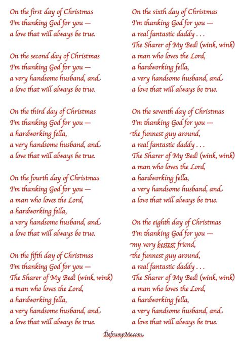 12 Days Of Gifts For Husband - defrump me the 12 days of notes for your