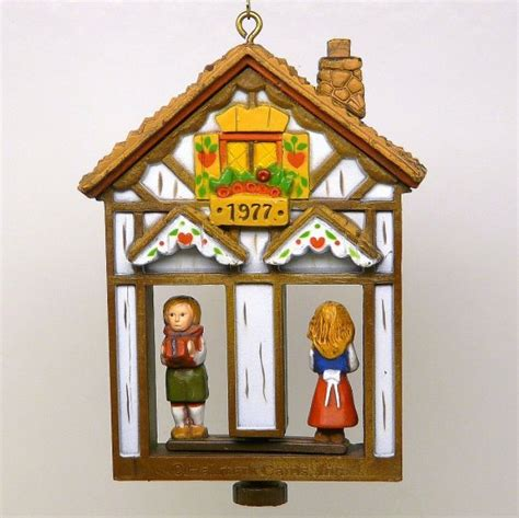 vintage hallmark weather house twirl about dated christmas