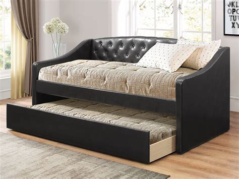 Tufted Daybed With Trundle Chocolate Tufted Daybed With Roll Out Trundle Bailey S Furniture