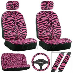 Zebra Seat Covers For Car Pink Zebra Car Accessories Seat Covers For