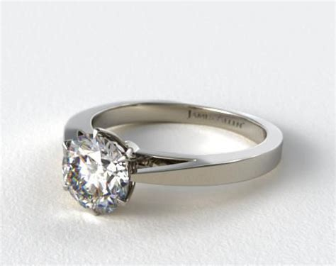 platinum tapered six prong filigree basket solitaire