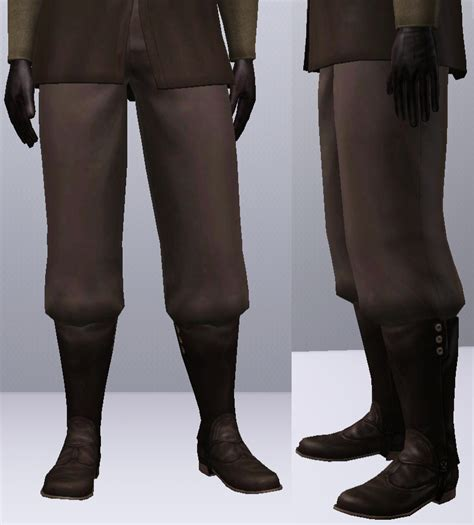 mod the sims baggy that work with boots