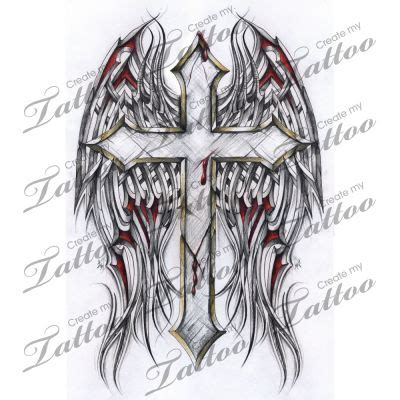 tribal cross tattoos with wings best 25 tribal wings ideas on