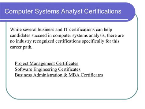 Information Security Analyst Mba by Computer System Analyst