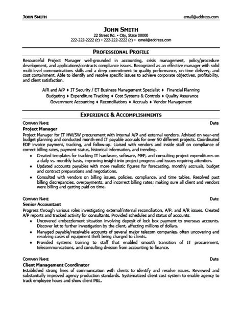 premium resume templates project manager resume template premium resume sles