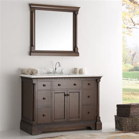 fresca kingston 48 quot antique coffee traditional bathroom