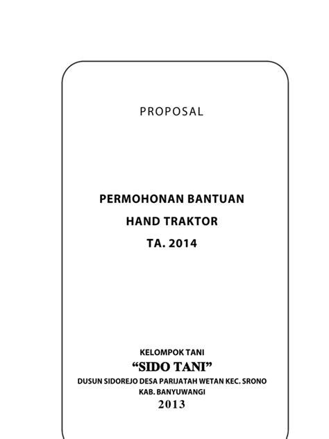 format proposal hand traktor proposal hand traktor tahun anggaran 2014