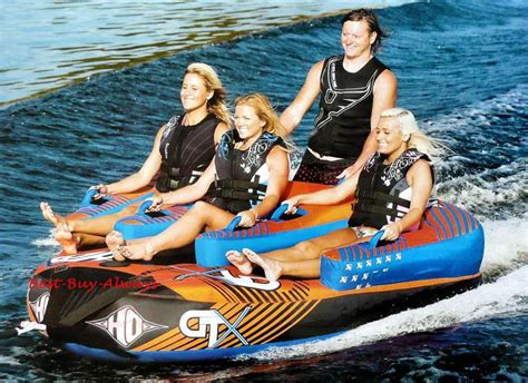 4 person boat tube ho sports gtx 4 person inflatable towable boat ski tube
