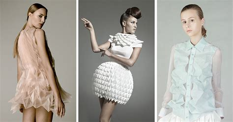 modern  creative fashion designs inspired  origami