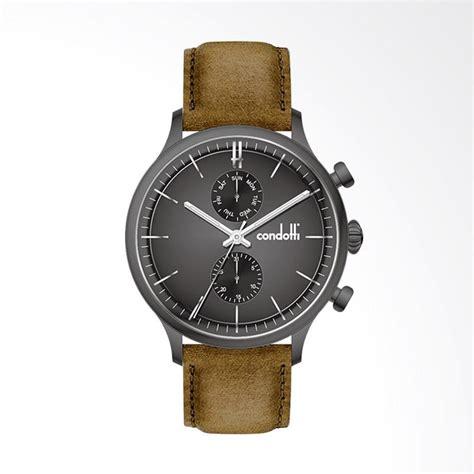 Harga Jam Tangan Merk Condotti jual condotti jam tangan pria brown gold cn1048 gn16 l05