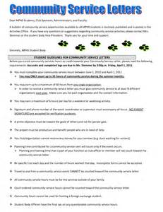 Community Service Letter Templates Court Ordered Community Service Letter Template
